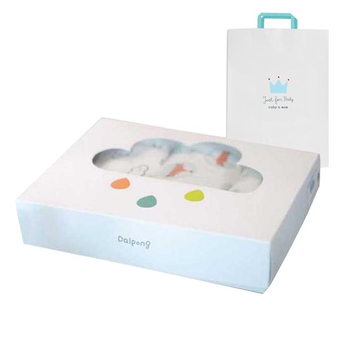 달퐁 유아용 양면 속싸개 3p + 쇼핑백, 블루