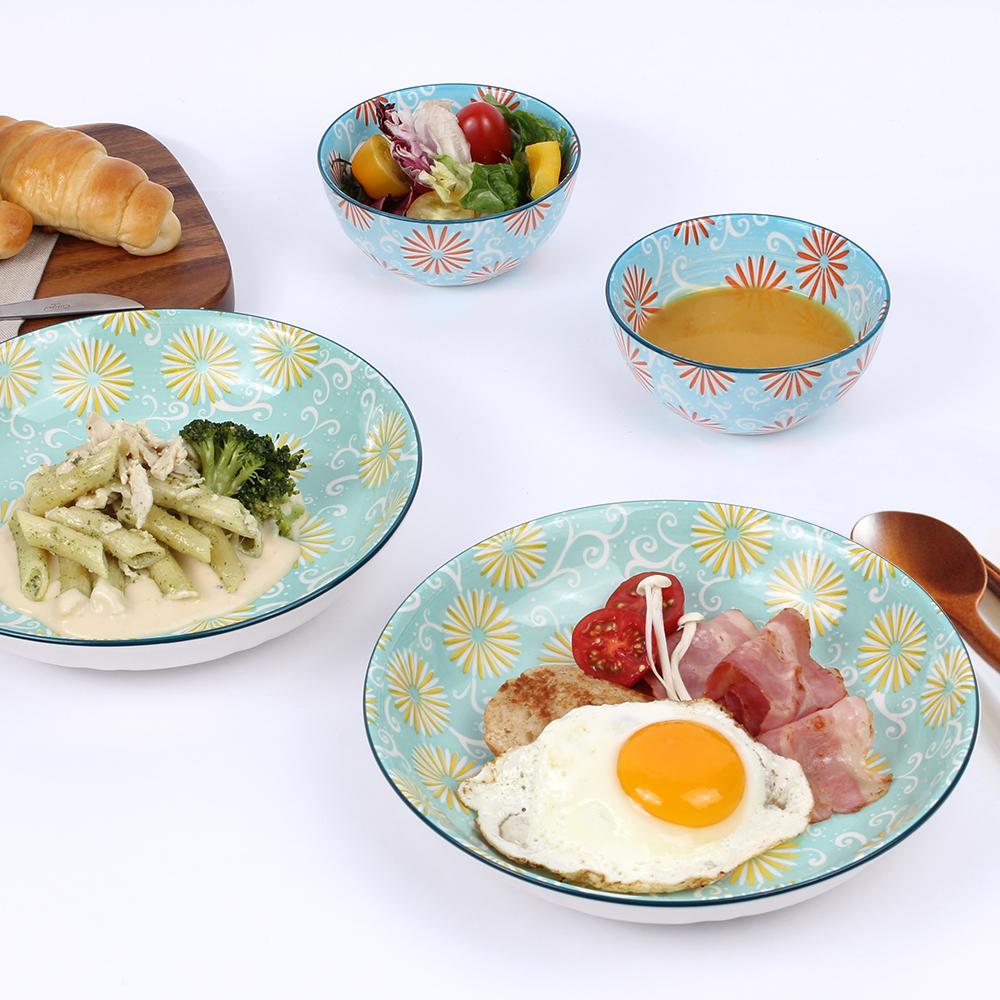 우마이쇼쿠 호시 2인 파스타접시 2p + 레머킨 2p 식기세트, 1세트, 단품
