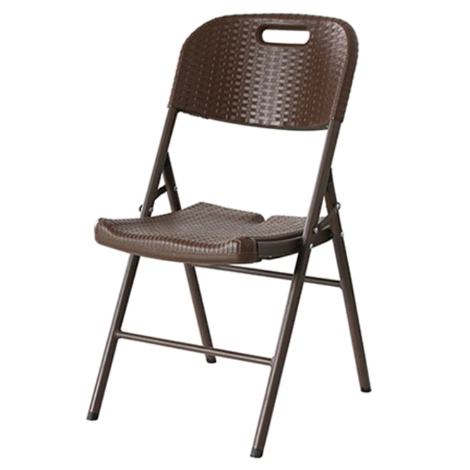 오에이데스크 프리미엄 브로몰딩 접이식 의자, 브라운