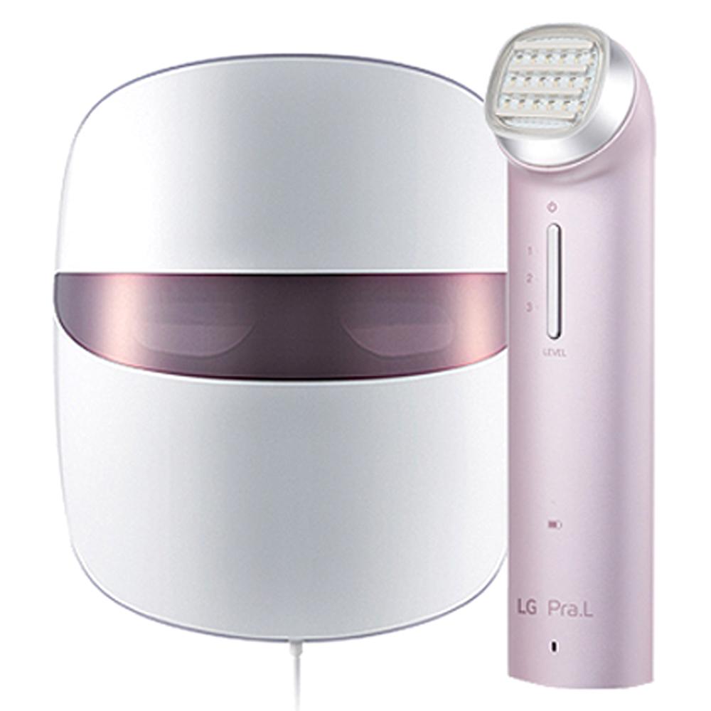 엘지 프라엘 핑크V 심화 관리 세트, 토탈 타이트업 케어(BLJ1V) + 더마 LED 마스크(BWJ1V), 혼합 색상