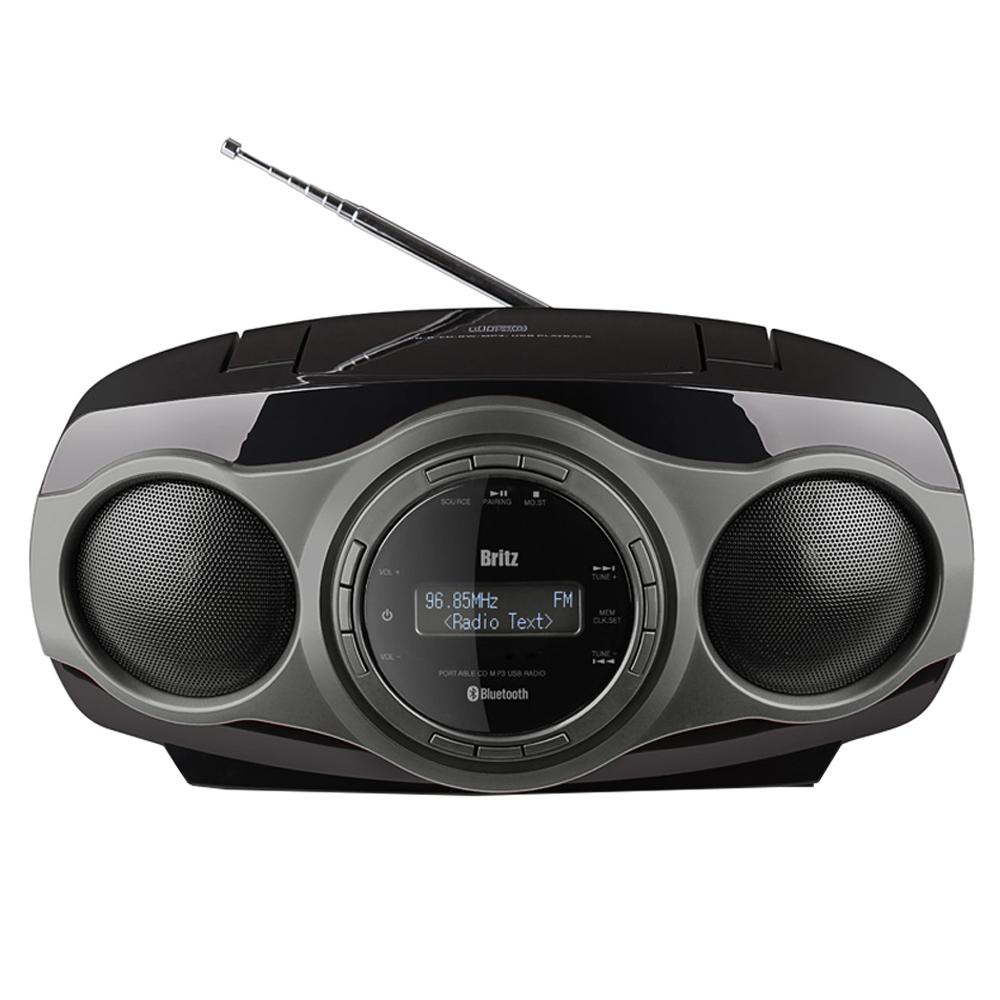 브리츠 블루투스 CD 멀티플레이어, 그레이, BZ-CDPR900UBT