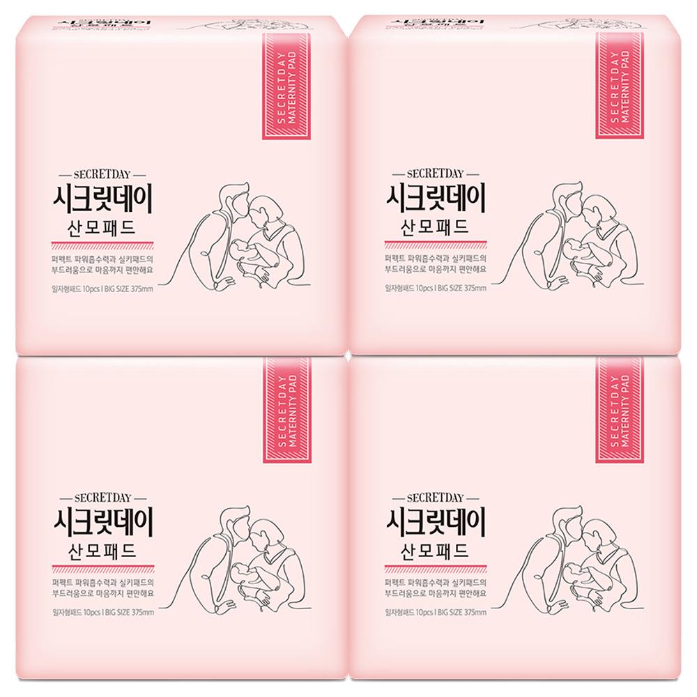 시크릿데이 여성용 NEW 산모패드, 10매, 4팩