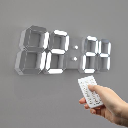 무아스 프리미엄 3D LED벽시계 빅플러스 WB2, 단일 색상