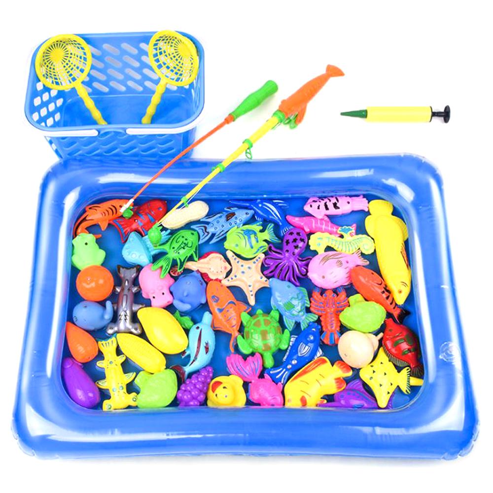 꼬마어부 자석 낚시놀이 장난감 55pcs 세트, 혼합 색상