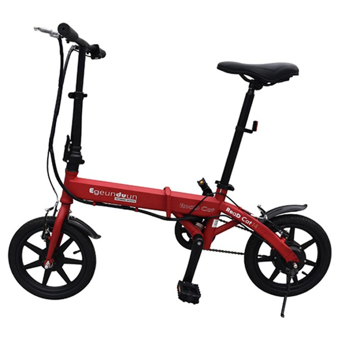 e근두운 로드캣14 전기자전거, 다크레드
