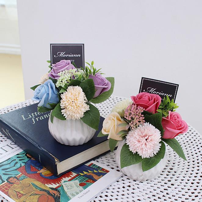 모리앤 꽃길 센터피스 2p, 핑크, 퍼플, 1세트