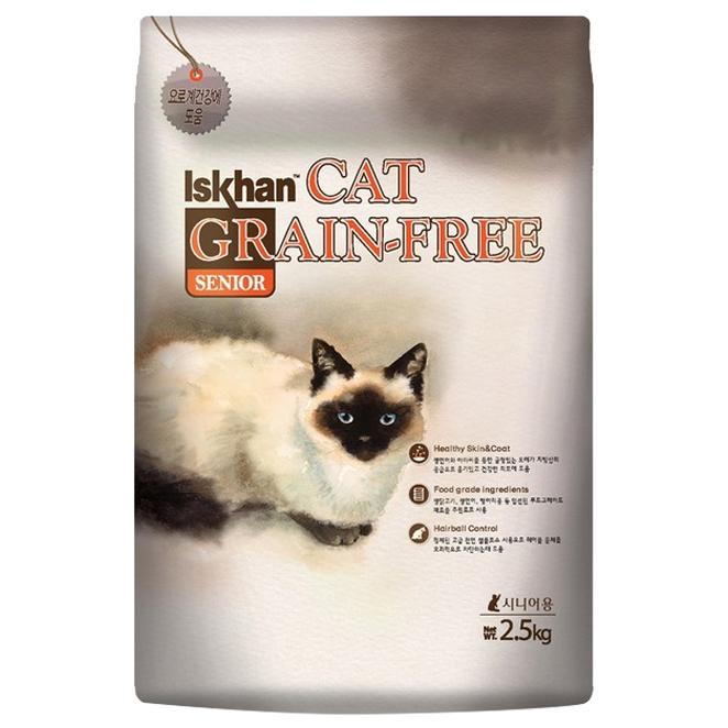 이즈칸캣 시니어 그레인프리 고양이 사료, 2.5kg, 1개