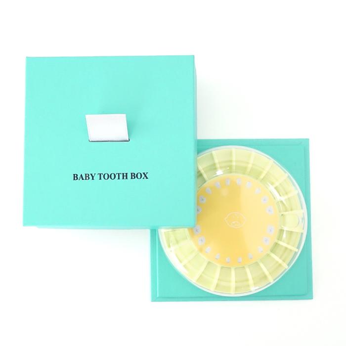 멜로우 My Baby Tooth Box SQUARE 유치보관함, BLUE