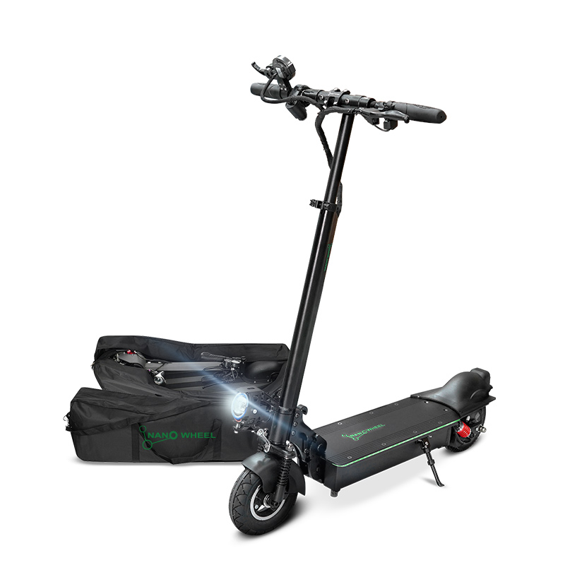 나노휠 전동킥보드 NQ-AIR 500W Plus+ 프리미엄 36V 10.4Ah배터리 + 전용가방, NQ-AIR 500W Plus Premium, 블랙