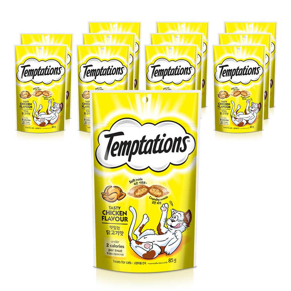 템테이션 고양이 간식 닭고기 85g, 닭고기맛, 12개입