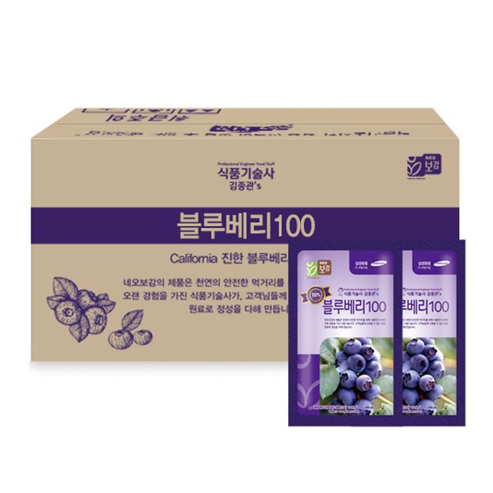네오팜 식품기술사가 직접 만든 김종관 블루베리100, 80ml, 60개입