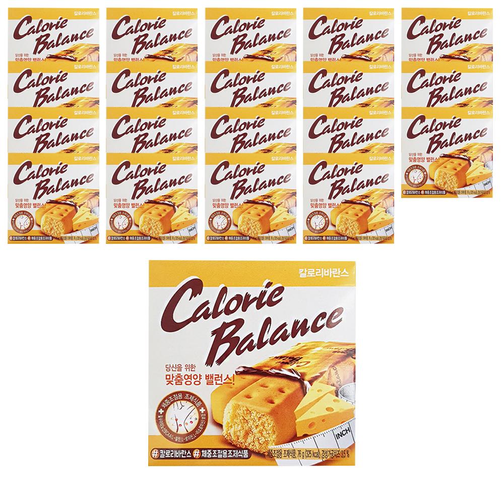해태제과 칼로리발란스 치즈 다이어트 식품, 76g, 20개