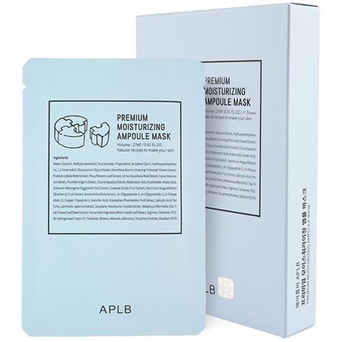 APLB 프리미엄 모이스춰 라이징 앰플 시트 마스크 블루, 1개입, 5개