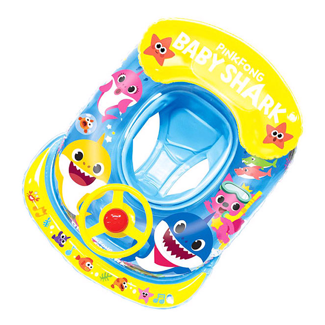 핑크퐁 자동차 쿠션 보행기 튜브, 블루, 1개