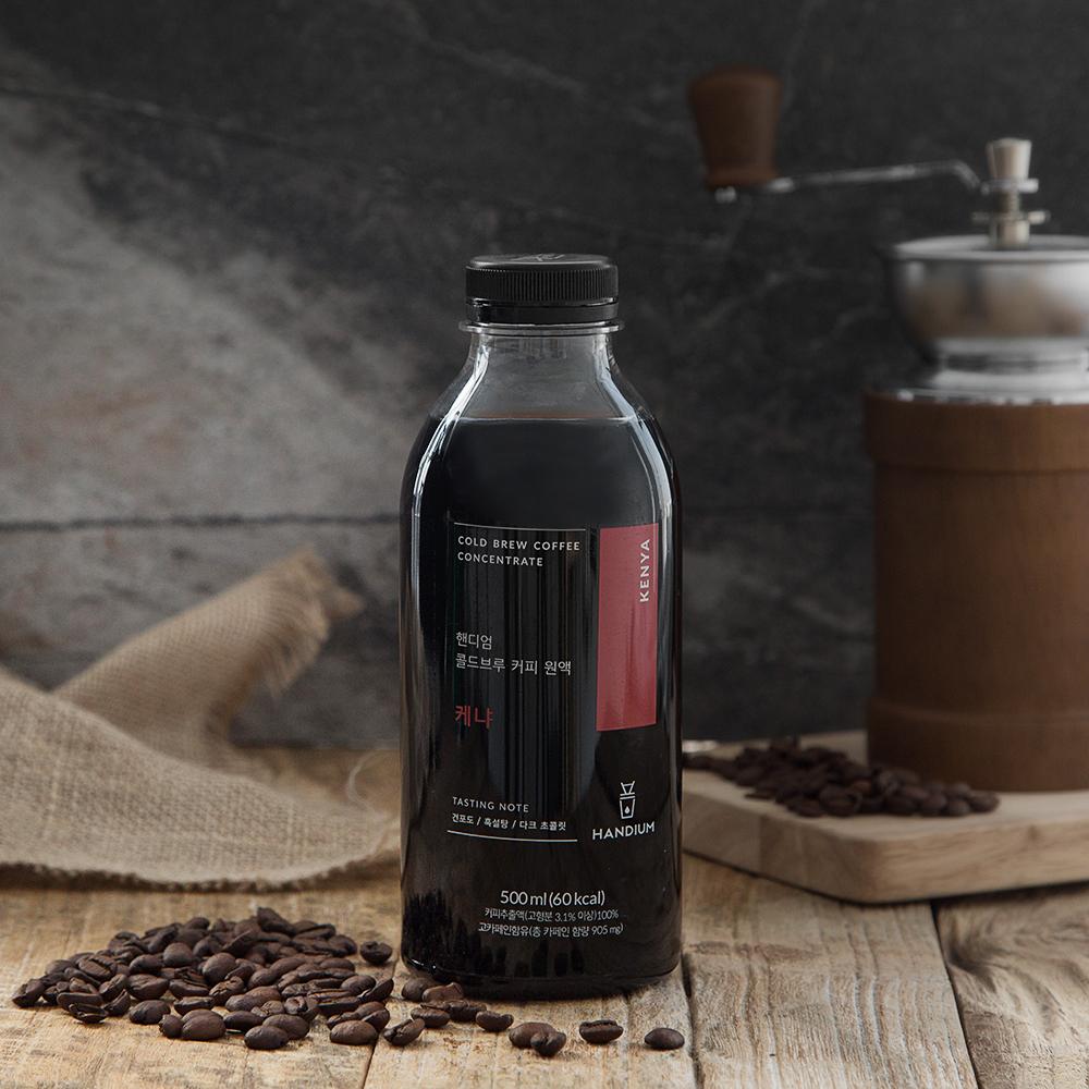 핸디엄 냉장 콜드브루 커피원액 케냐, 500ml, 1개