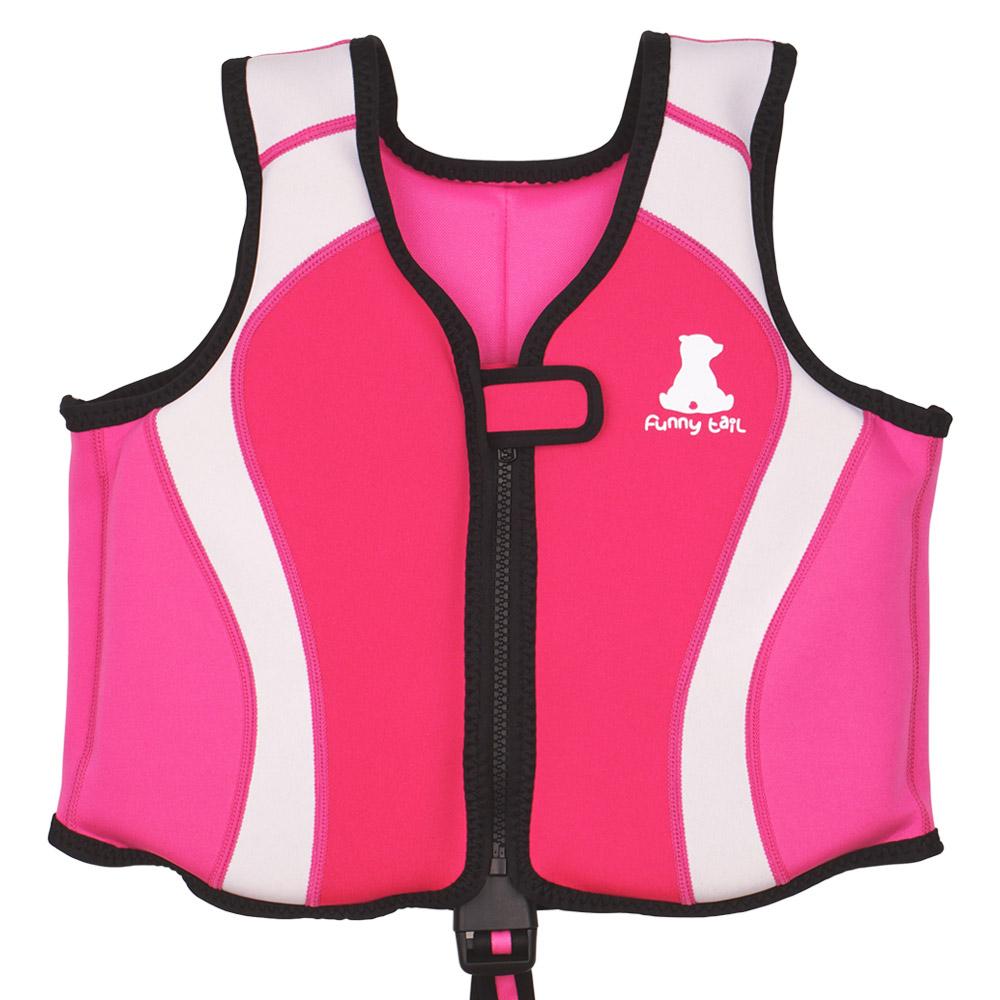 퍼니테일 돌핀 네오플랜 수영 보조조끼, 핑크-18-22213476