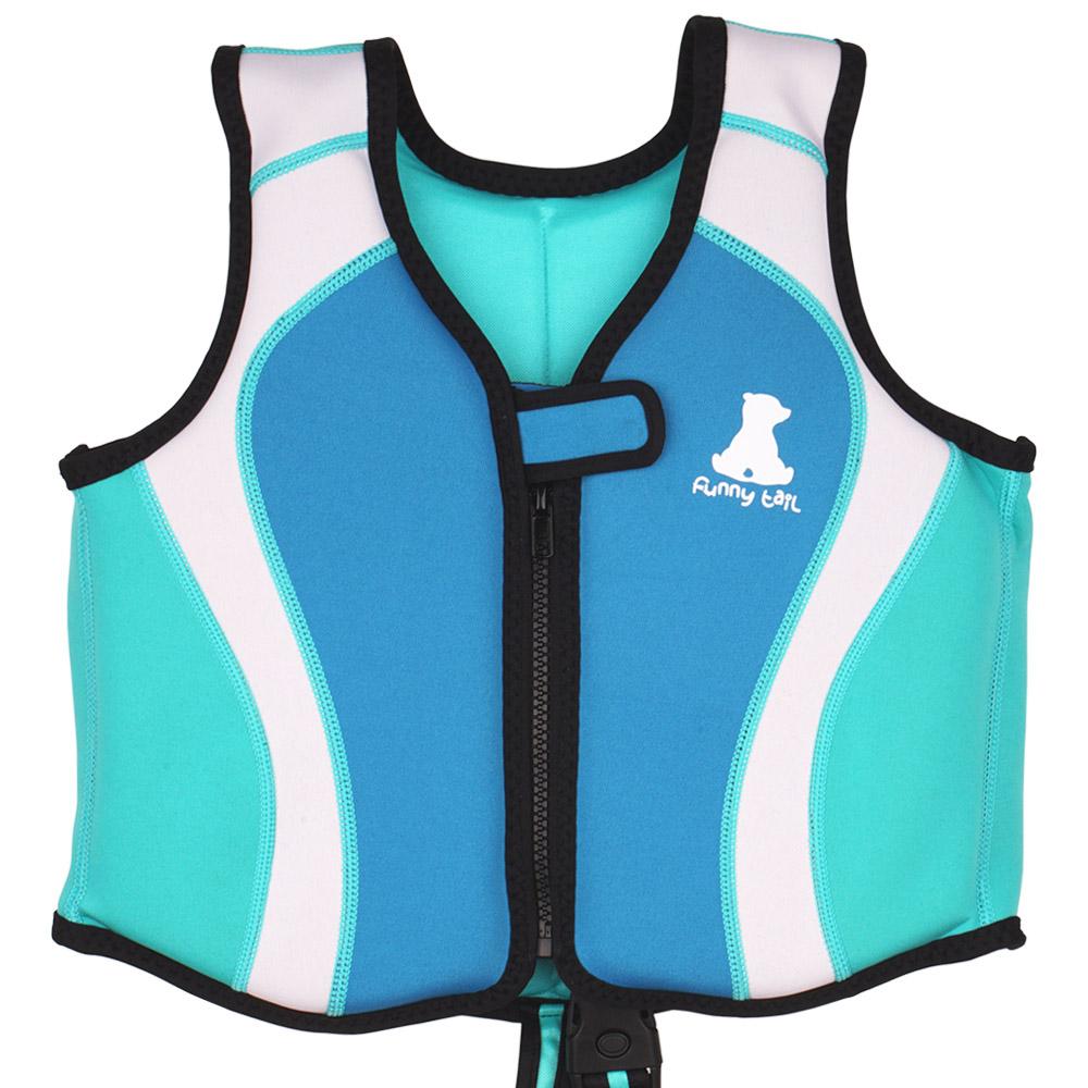 퍼니테일 돌핀 네오플랜 수영 보조조끼, 블루-12-22213476