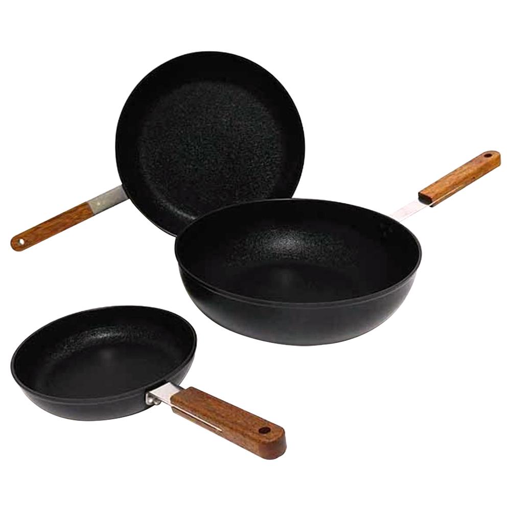 키친아트 포르트 IH 후라이팬 3종 세트, 단일 색상, 후라이팬(20cm + 26cm) + 궁중팬 26cm