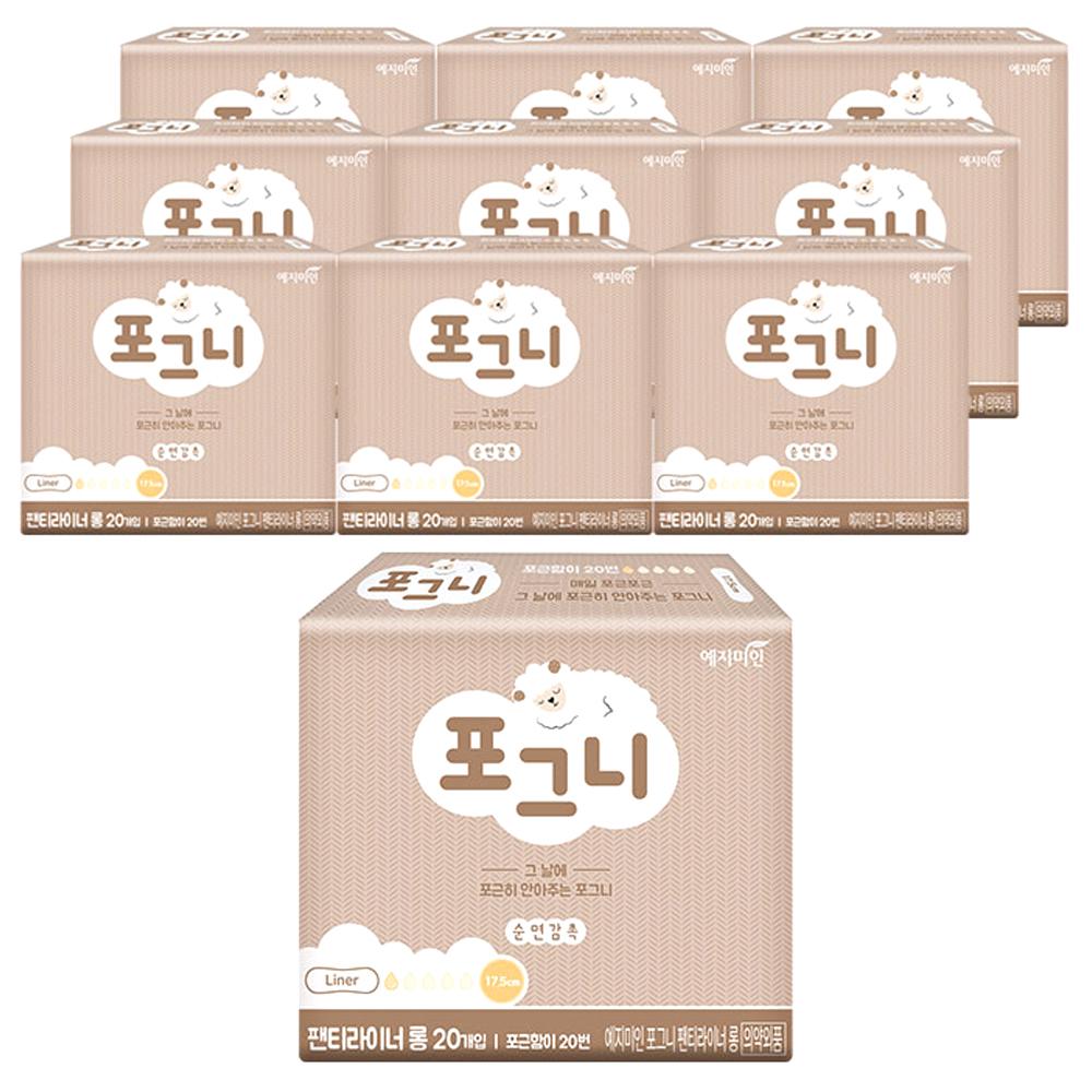 예지미인 포그니 롱 팬티라이너 20매입 10팩