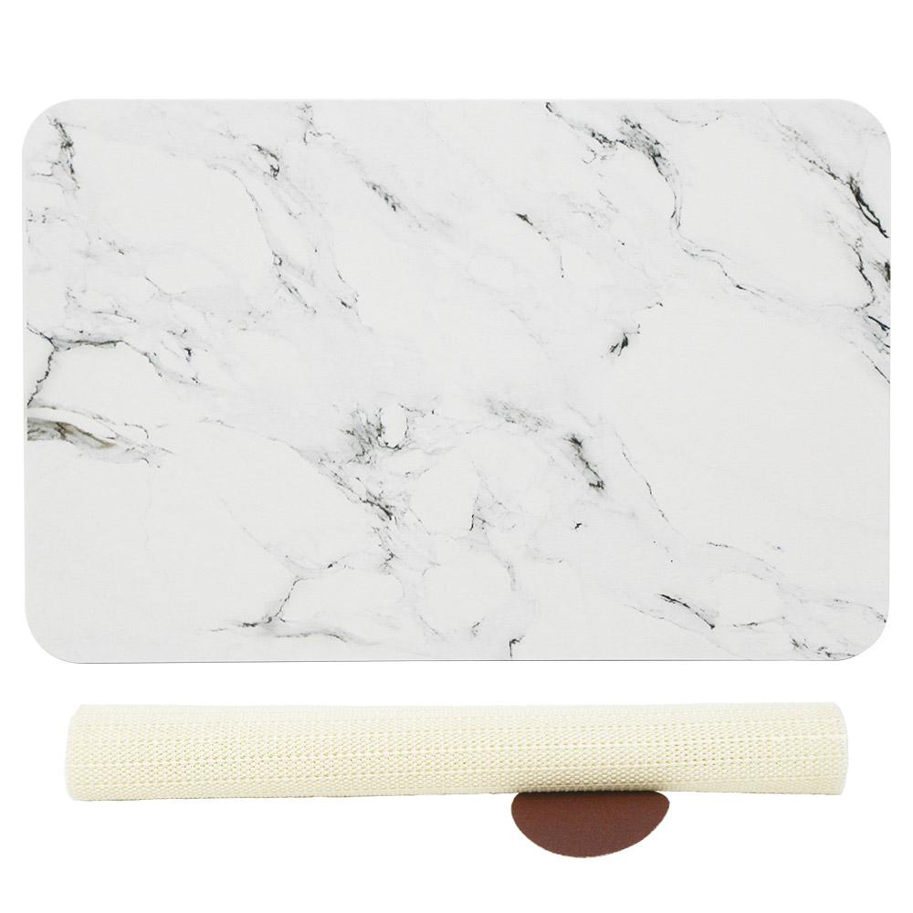 코시나 규조토 욕실매트 + 미끄럼 방지패드, 유니크대리석