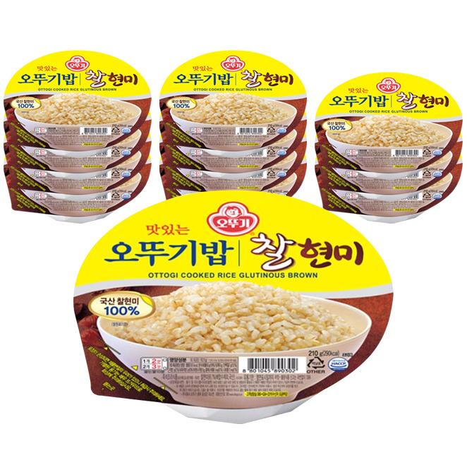 오뚜기 오뚜기밥 찰현미-, 210g, 12개
