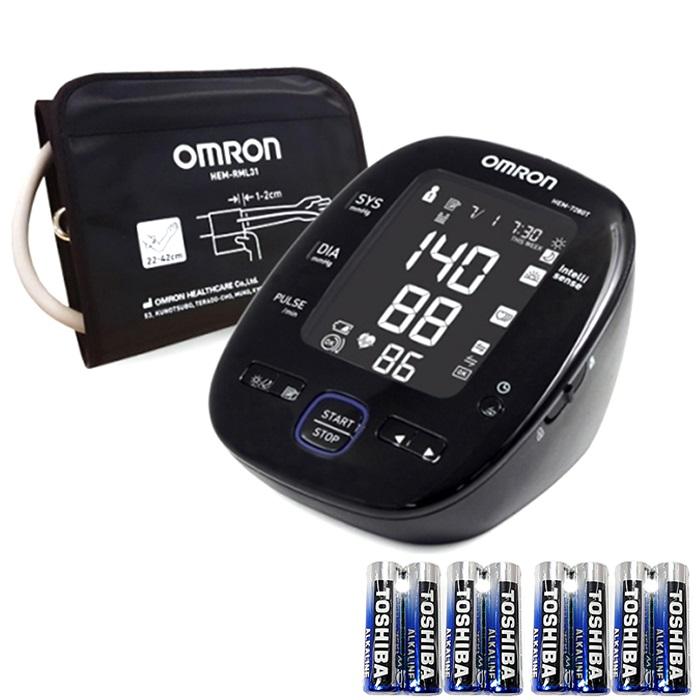 오므론 블루투스 자동전자 혈압계 HEM-7280T, 1개