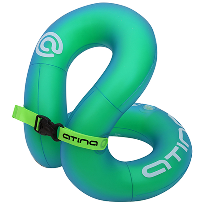 아티나 넥베스트 유아동 조끼형 수영보조용품 25kg, 그린