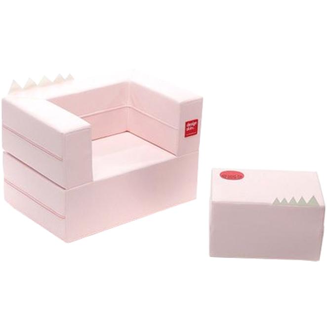 디자인스킨 케이크 유아 소파, 핑크