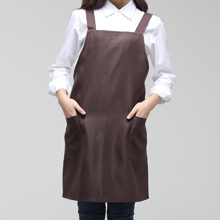 해오름유니폼 엉덩이 단추형 앞치마, 커피, 1개