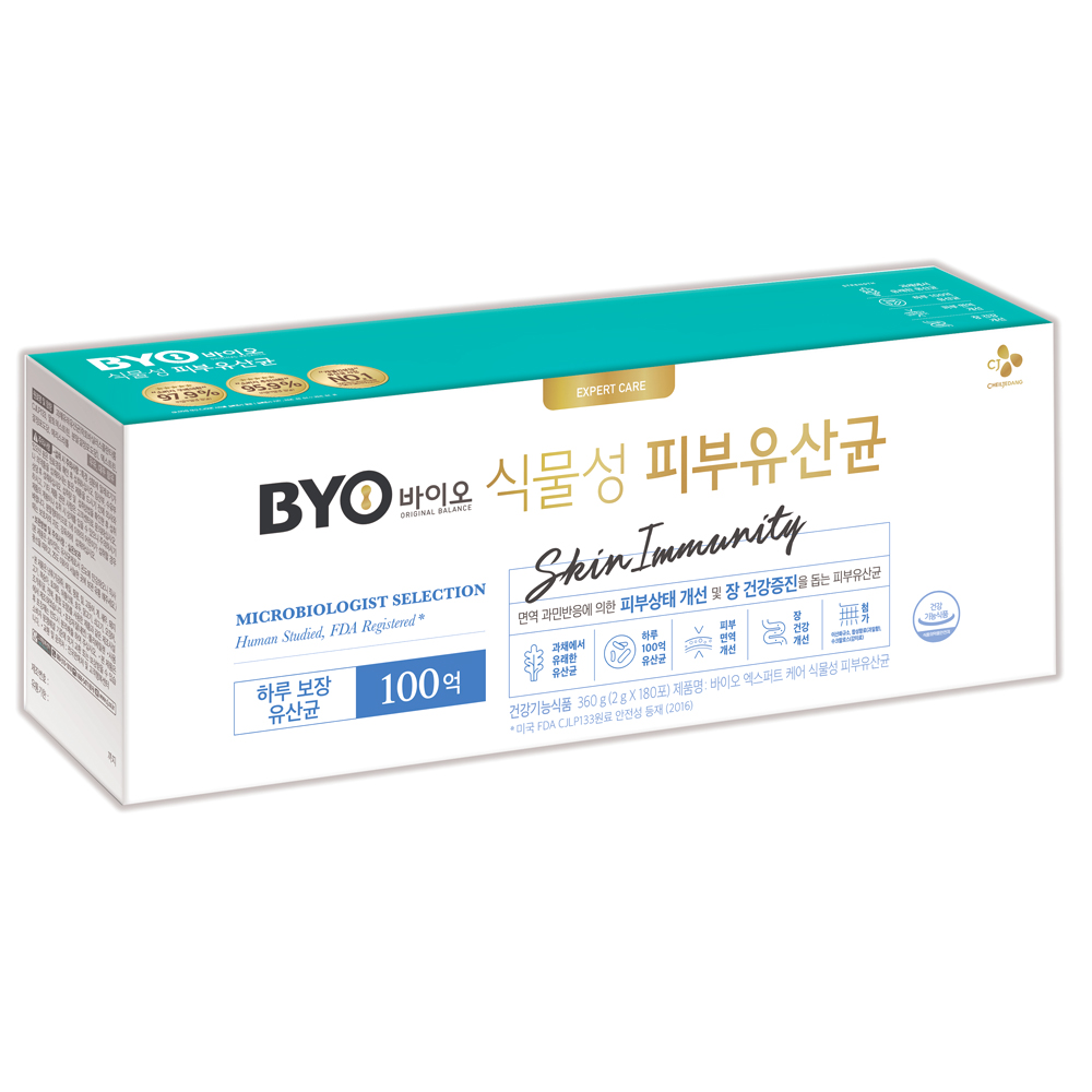 BYO 식물성 피부유산균, 2g, 180개입