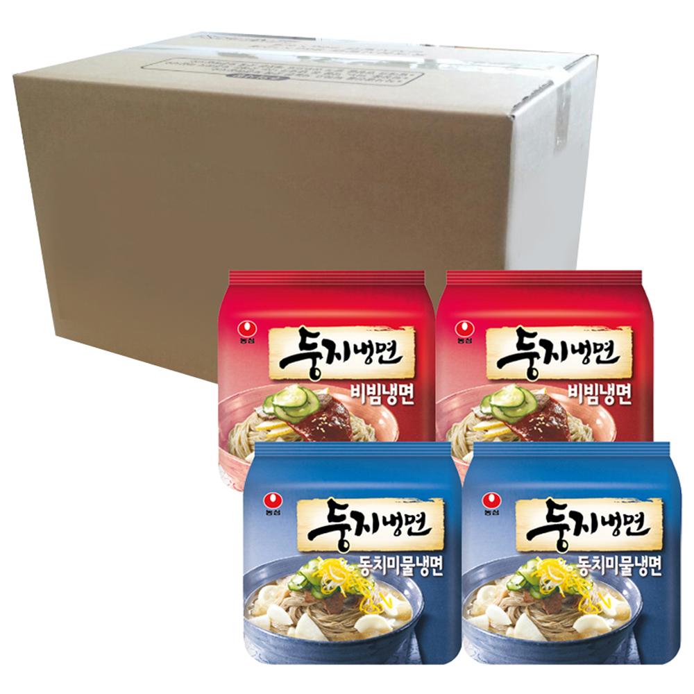 농심 둥지냉면 동치미물냉면 161g x 8p + 비빔냉면 162g x 8p, 1세트
