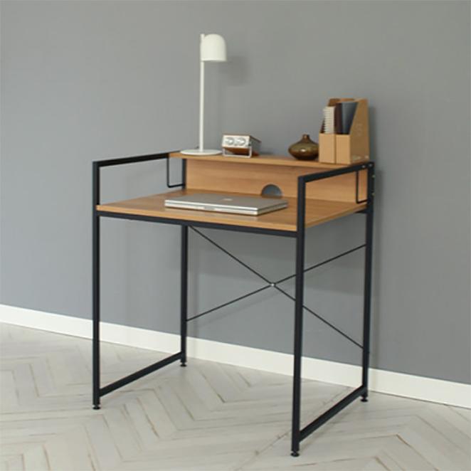 소프시스 가드 책상 860, 티크 판넬 + 블랙 프레임