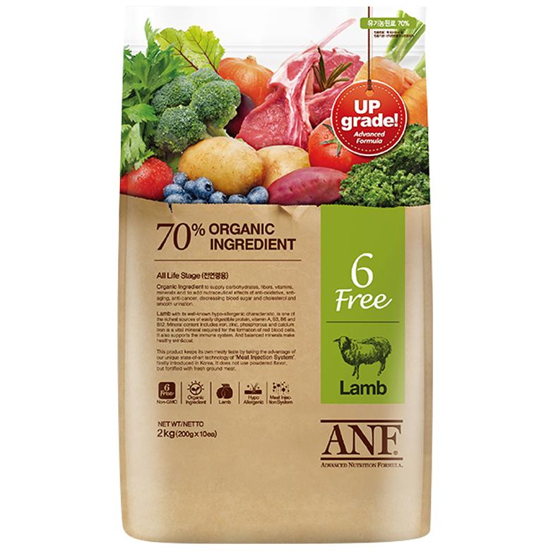 ANF 유기농 6Free 양고기 전연령 애견 사료, 양, 2kg, 1개