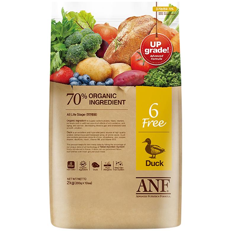ANF 유기농 6Free 오리 전연령 애견사료, 6kg, 1개