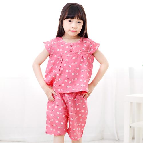 키즈라인 아동용 썬캣 인견잠옷 세트