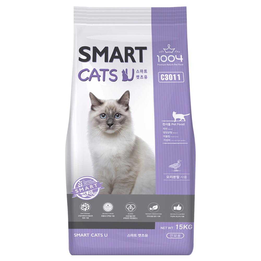 1004 스마트 캣츠유 고양이사료, 15kg, 1개