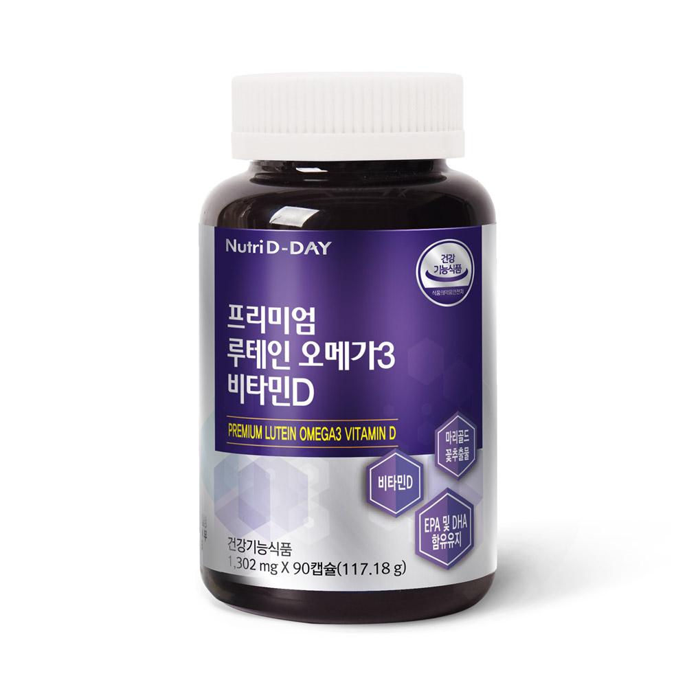 뉴트리디데이 프리미엄 루테인 오메가3 비타민D 영양제, 90개입, 1개