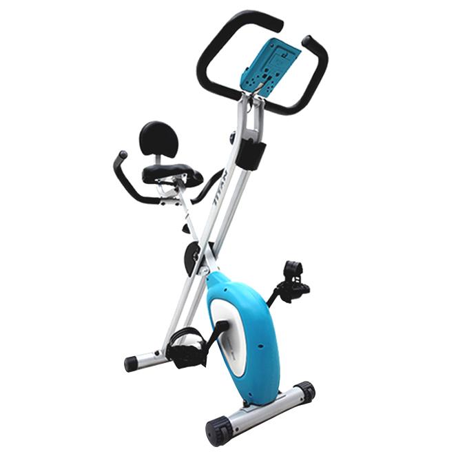 타이탄 스마트 접이식 실내 헬스 자전거, BC-2960, 블루