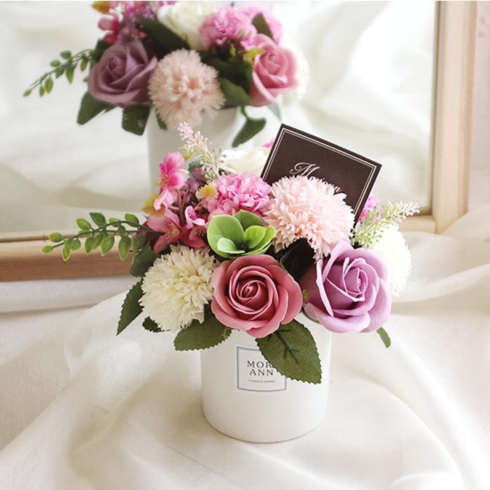 모리앤 비누꽃 샤벳 센터피스 + 땡큐택 + 케이스, 라벤다, 1세트
