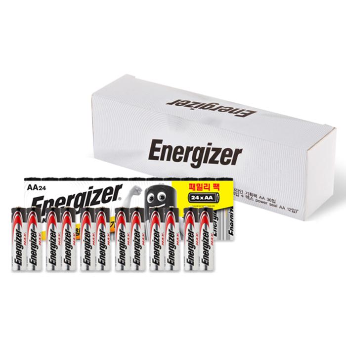 에너자이저 알카라인 기획팩 패밀리팩AA 24p+맥스power seal AA 12p, 1세트