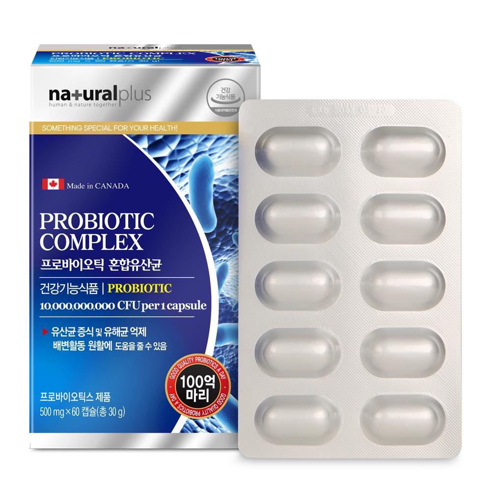 내츄럴플러스 프로바이오틱 혼합유산균, 60정, 1개