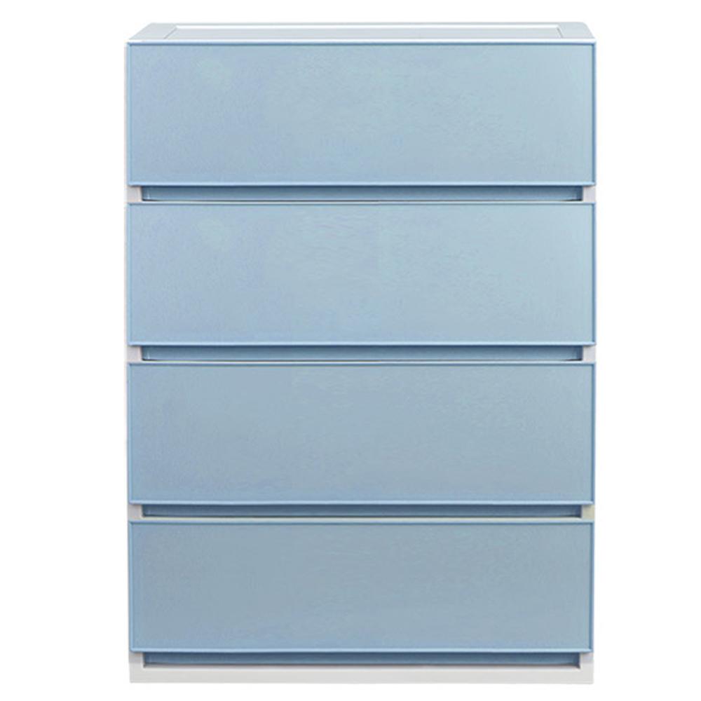 샤바스 컬러스토리 서랍장 600 와이드 4단, 블루, 1개