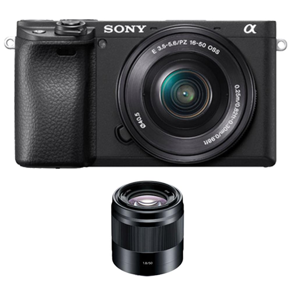 소니 알파 A6400L 미러리스카메라 블랙 SELP1650 렌즈킷 + SEL50F18 패키지, ILCE-6400
