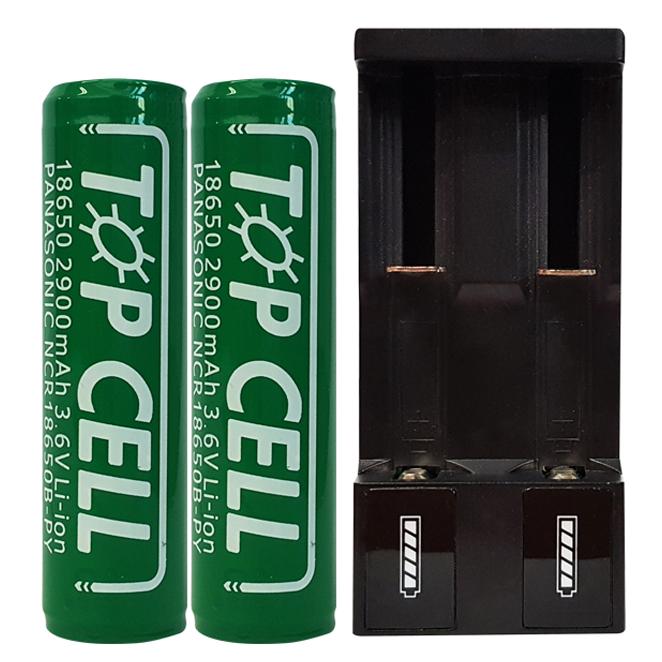 로버스트 리튬이온 18650 배터리충전 세트, 1세트