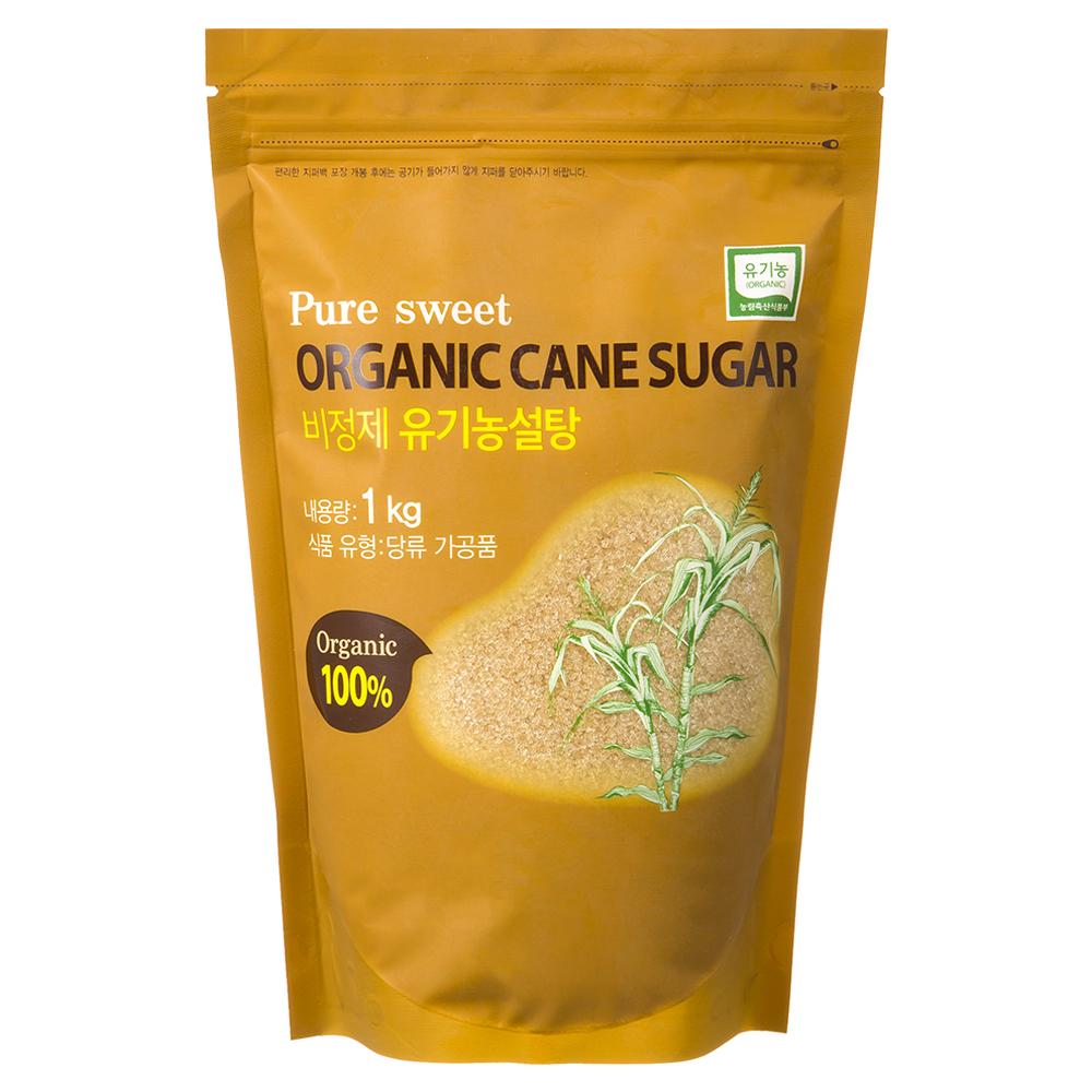 자연미가 비정제 유기농 갈색설탕, 1kg, 1개