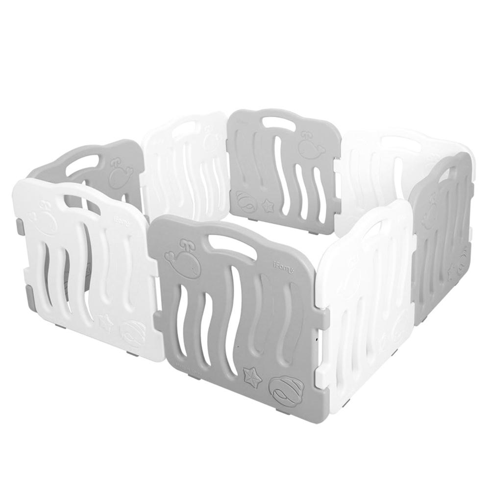 아이팜 쉘 베이비룸 패널 화이트 4p + 그레이 4p + 논슬립 보호재 16p, 혼합 색상