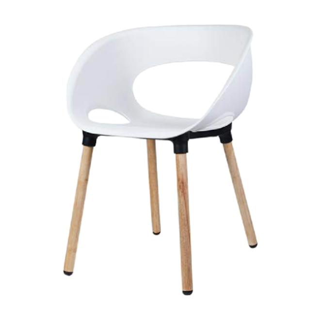 리빙숲 스마일 체어 플라스틱 의자, 화이트