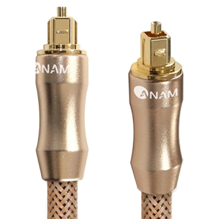 아남 골드메탈 7파이 옵티컬 오디오 전송 광케이블 1.5m AO-G15, 혼합 색상, 1개