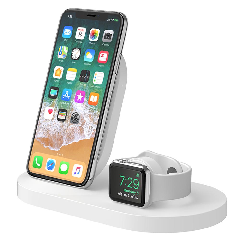 벨킨 아이폰 애플워치 USB A포트용 3 in 1 무선 멀티 충전독 F8J235kr, 화이트, 1개