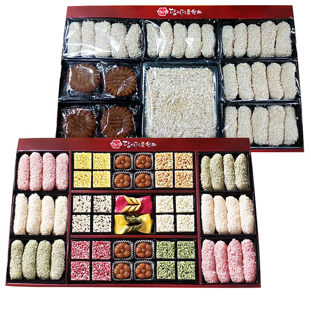 [추석 선물 세트] 담미정 단오풍정 한과세트 1호, 850g, 1세트 - 랭킹58위 (39000원)